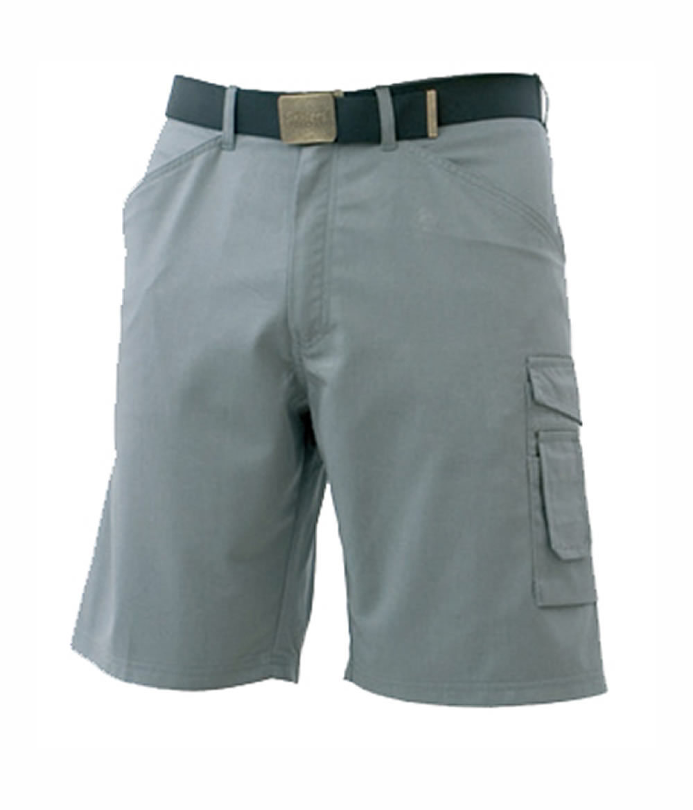 SKILLERS Poly Gray Cotton Shorts