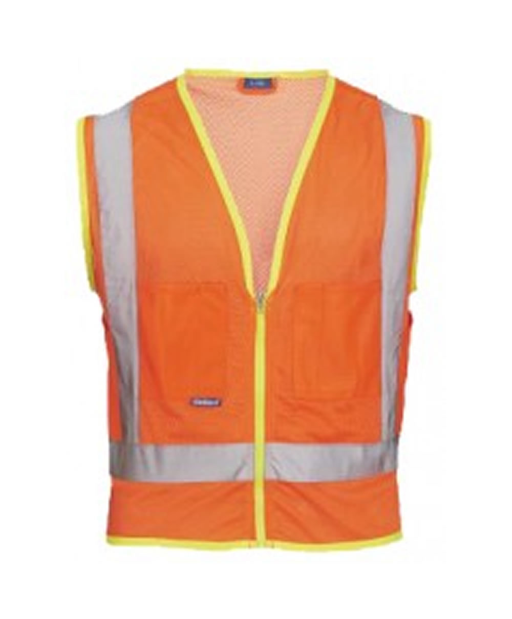 Skillers High Visibility Mesh Safety Vest – Orange