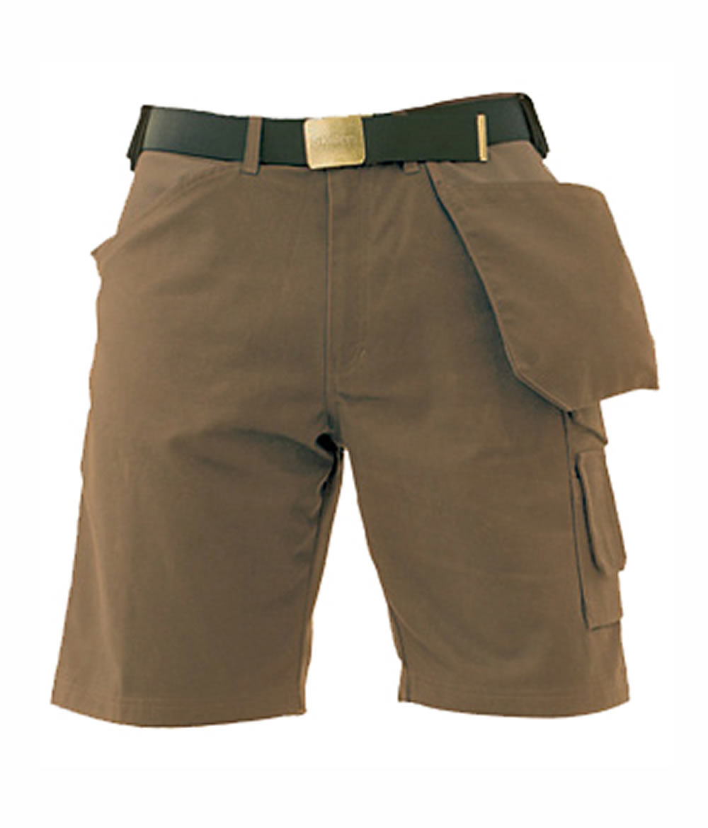 Skillers Brown Super Canvas Shorts